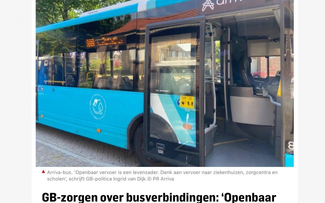 Openbaar vervoer is levensader